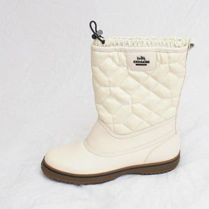 Coach Sparrow Boots 8.5 Winter White